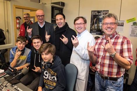 Ein Besuch von Menschen für Kinder e.V. bei Kinderradio Marburg.